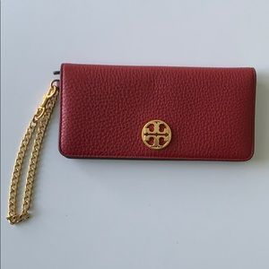 Tory Butch Red chain Wristlet wallet